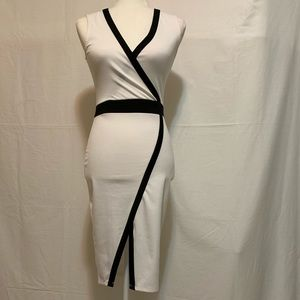GUESS White with Black Trim Dress